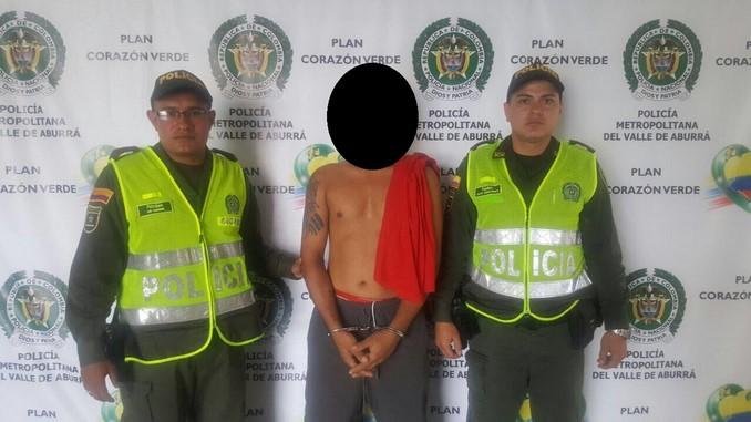 Presunto extorsionista capturado en Itagüí.