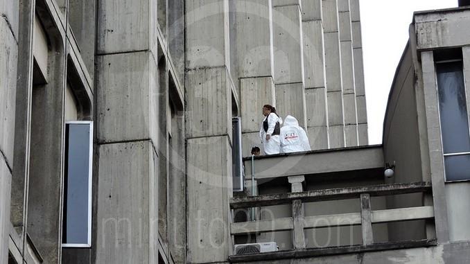 Suicidio en el Palacio de Justicia.