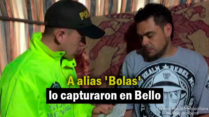 Captura de alias 'Bolas'.