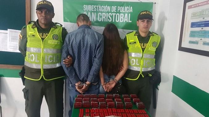 Capturados en San Cristóbal.
