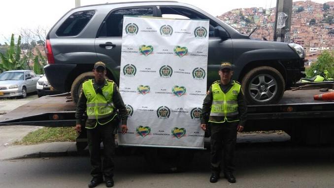 Carro recuperado en San Javier.