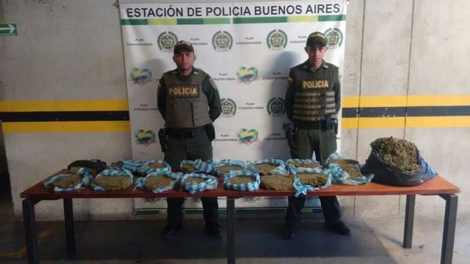 Marihuana abandonada en El Salvador.