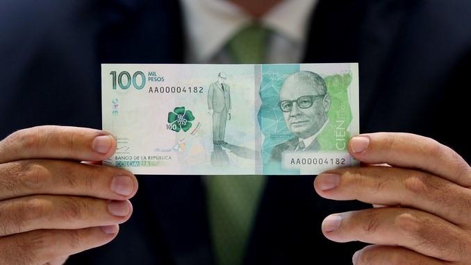 billete 100 pesos peso colombiano