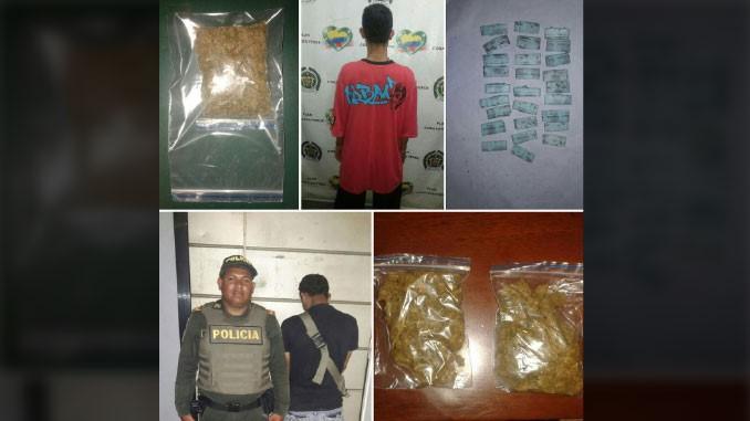 Los pillaron con 80 gramos de marihuana y 30 gramos de base de coca en San Javier