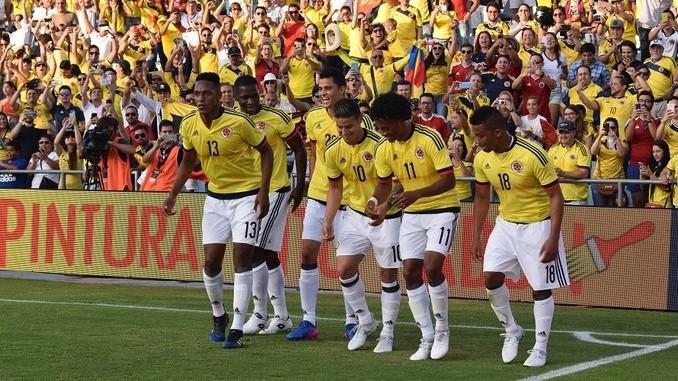 seleccion colombia celebracion