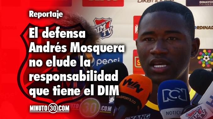 Andres Mosquera obligacion ser campeon