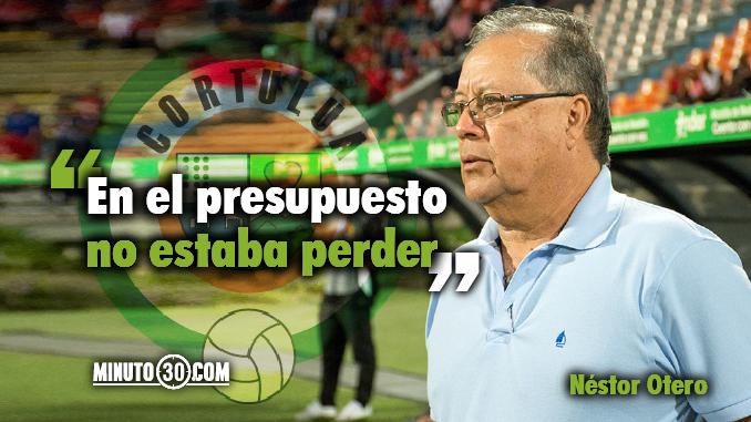 Reacciones de Nestor Otero tras la derrota del Cortulua ante Medellin