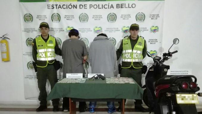 Capturados hurto a minimercado en Bello