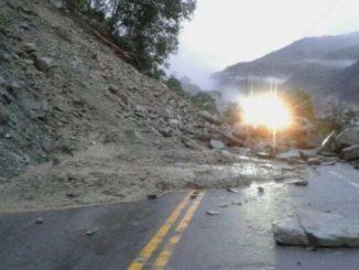 Reportan congestión vehicular por derrumbe en la vía Bogotá - Villavicencio