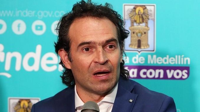 El alcalde de Medellín, Federico Guitérrez