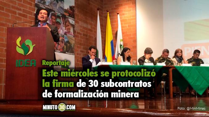 Formalización minera Antioquia