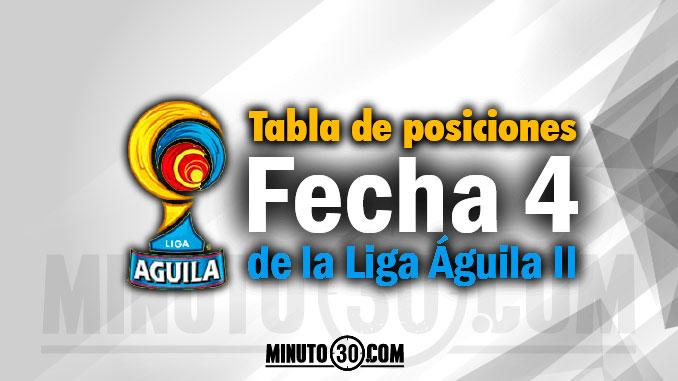 tabla posiciones liga aguila2 fecha 4 portada