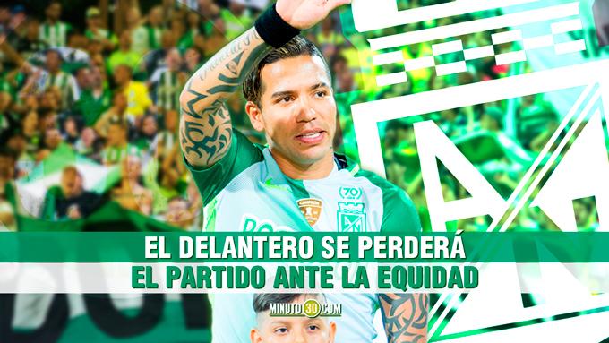 Dayro Moreno confirma ausencia Equidad