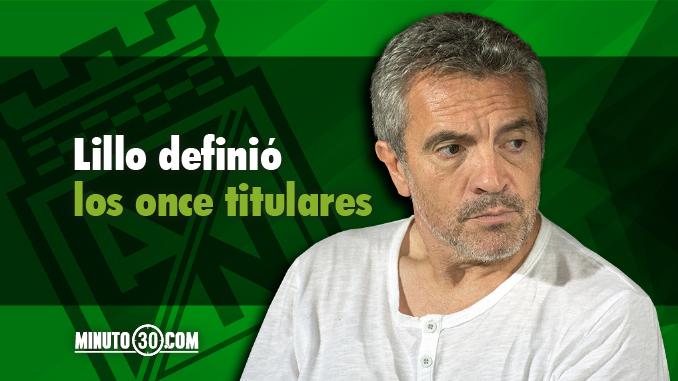 Juan Manuel Lillo definio titular