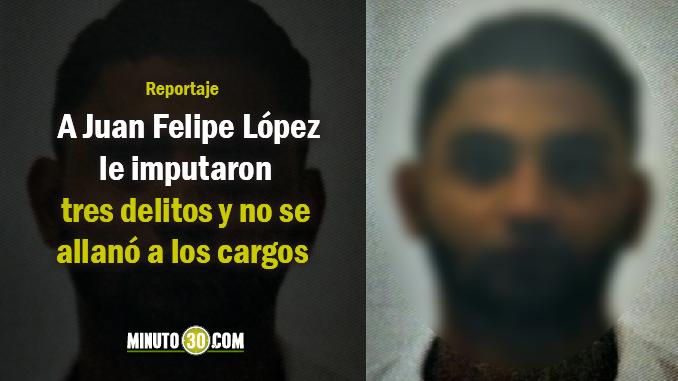 """Juan Felipe López, alias """"Juancito"""" sindicado de haber asesinado al rector Jaime Arango por robarle su moto. Foto/Fiscalía"""