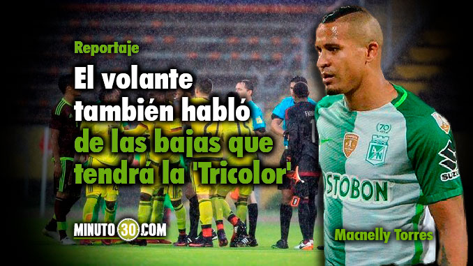 Macnelly Torres analiza partidos Colombia