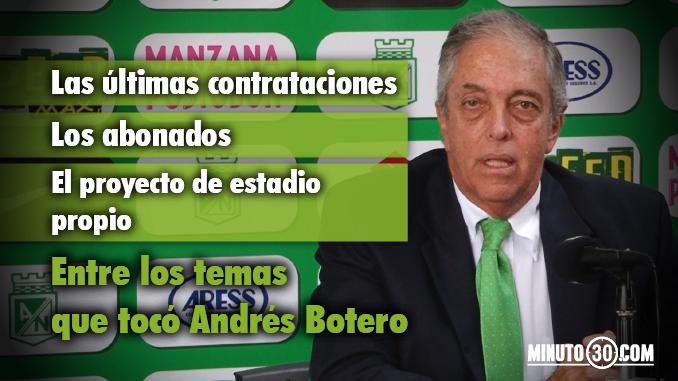Presidente Nacional Andres Botero