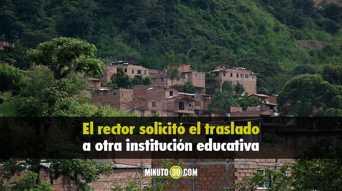 AUDIO: Por amenazas renunció rector de institución educativa en Altavista