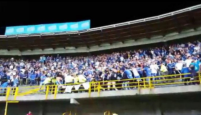 Así fueron los desmanes en El Campín durante el partido Millonarios - Junior