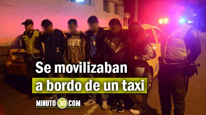 Capturados en taxi El Poblado