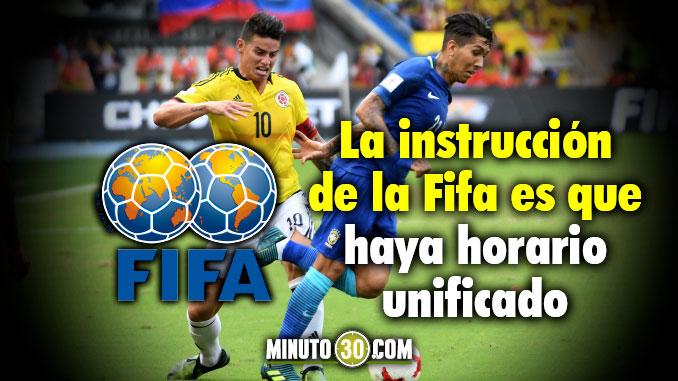 Colombia Eliminatorias ultima fecha horario unificado