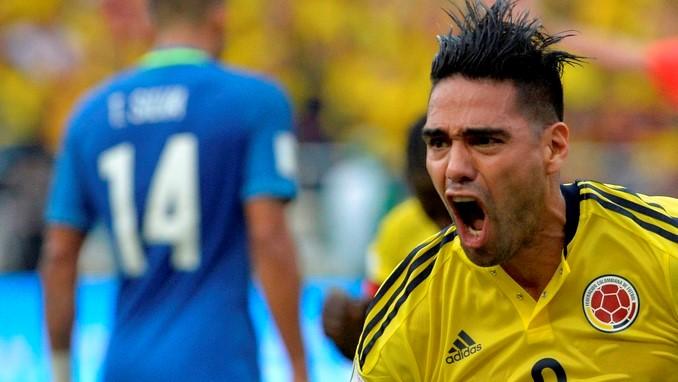 Falcao celebra gol ante Brasil 4