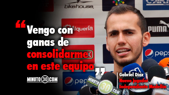 Gabriel Diaz nuevo jugador Medellin