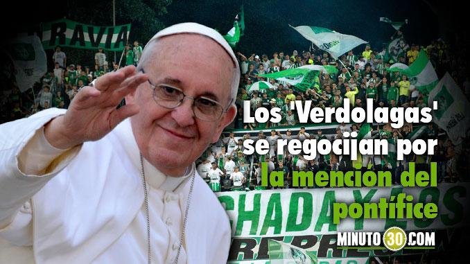 HInchas Nacional mencion papa Francisco