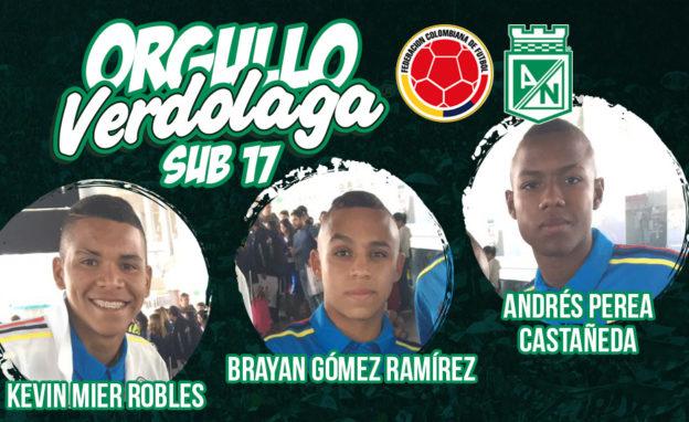 Jugadores Sub 17 Atletico Nacional