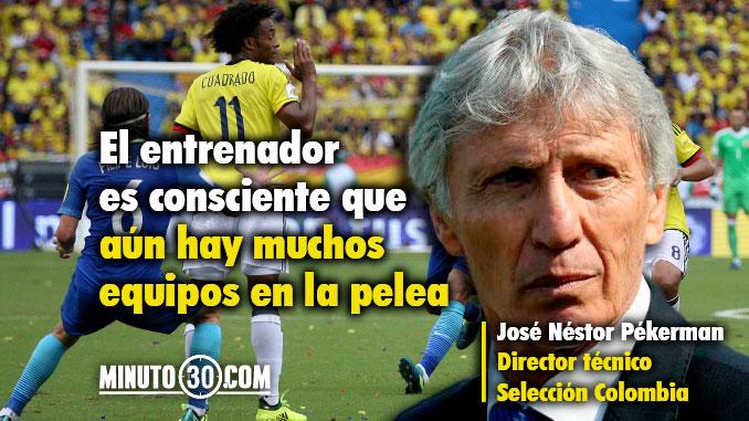 Reacciones Jose Pekerman empate Colombia Brasil