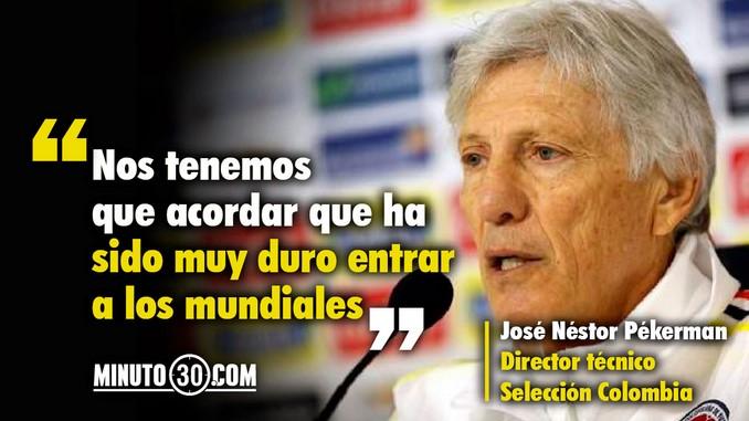 Reacciones Jose Pekerman empate Colombia Brasil Copiar