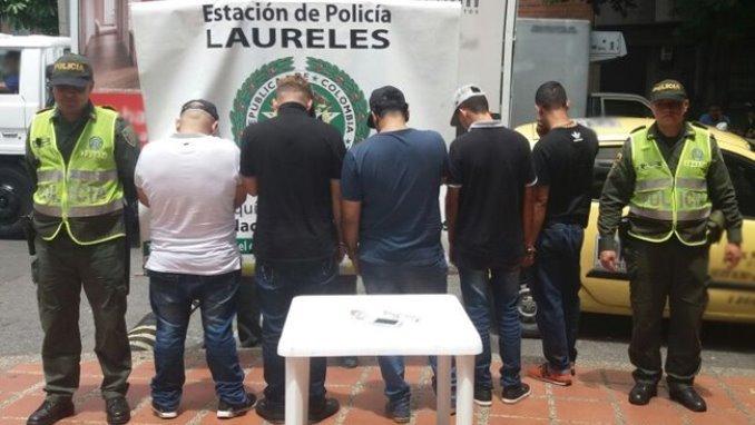 Capturaron a cinco hombres señalados de hurtar a un conductor de vehículo transportador de alimentos