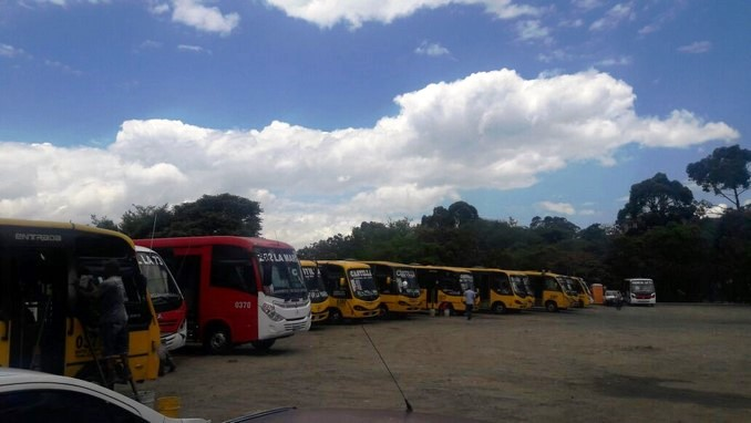 Ruta 262, buses Castilla, paro