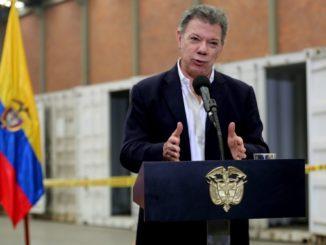 El presidente Juan Manuel Santos