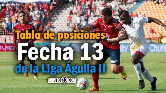 tabla posiciones liga aguila 2 fecha 13 portada