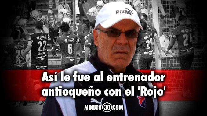 Balance desfavorable para Pelaez en sus 23 partidos con Medellin