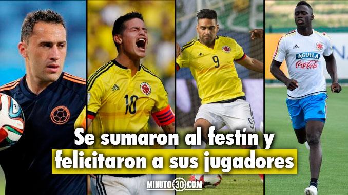 Bayern Monaco Arsenal y el Tottenham celebraron clasificacion de Colombia