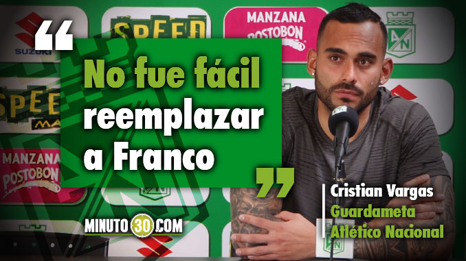 Cristian Vargas se gozo la palomita que tuvo de titular