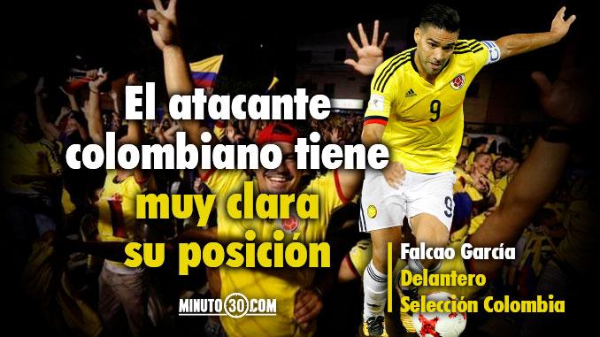 Deben trabajar mas los jugadores de Colombia para Falcao el delantero responde