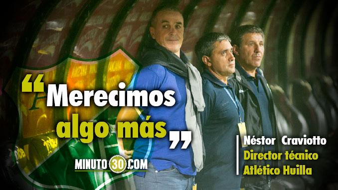 El entrenador de Huila cuestiono arbitraje tras derrota con Nacional