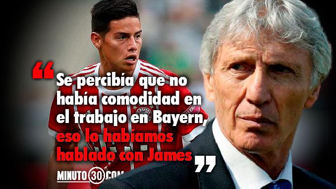 Esta afectado James por el cambio de DT en el Bayern Pekerman opina