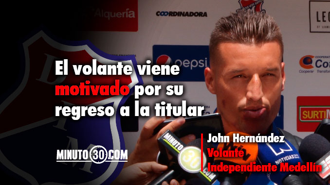 Goma Hernandez consciente del rol que debe asumir en el Rojo
