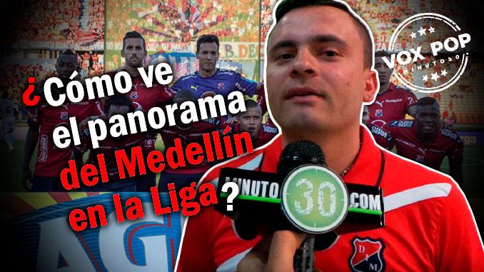 Hinchas del Medellon con inquebrantable confianza en su equipo