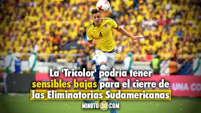 Jugadores de Colombia al borde de la sanci%C3%B3n