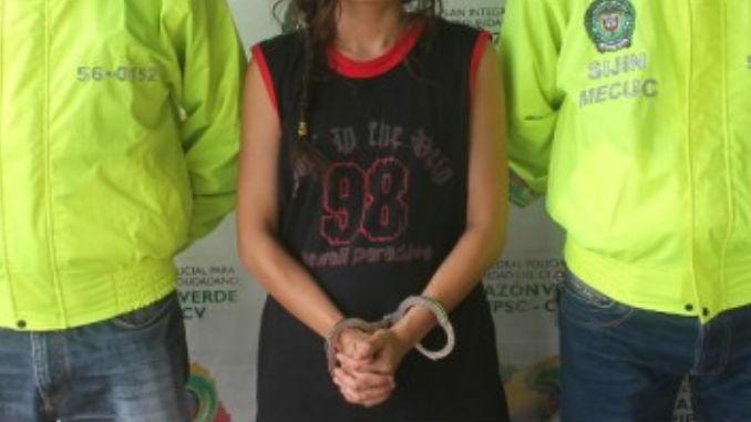 La joven capturada fue puesta a disposici%C3%B3n de las autoridades foto de archivo.