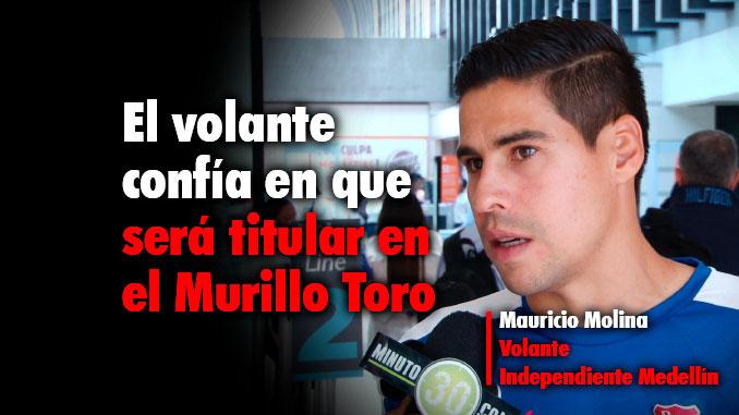 Muy motivado viajo Molina hacia Ibague