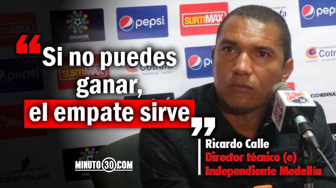 Ricardo Calle hablo sobre las dificultades que vivio en el banco ante Junior