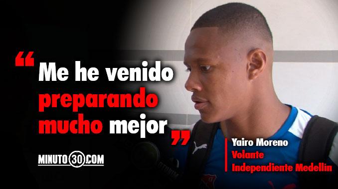 Yairo Moreno quiere seguir en la titular en Ibague