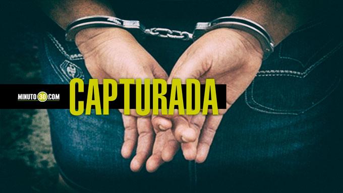 CAPTURADA, DETENIDA
