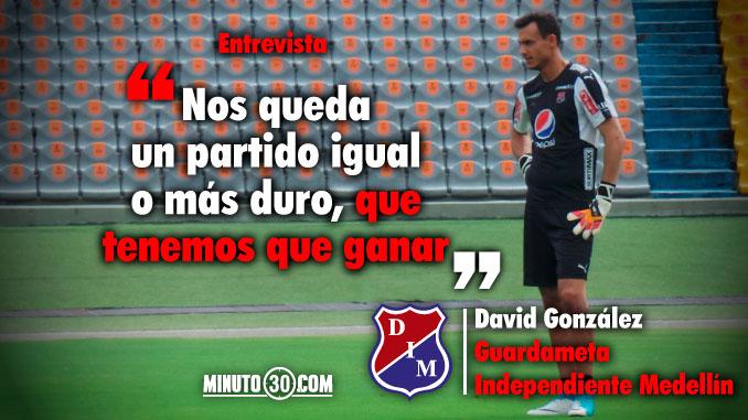 Gonzalez habla del dolor de la derrota y de lo que si viene frente a Nacional